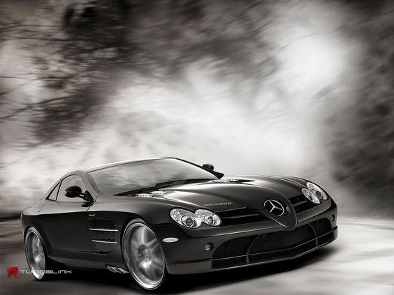 Pictures of beautiful black mercedes benz car wallpaper for Mercedes benz sports car