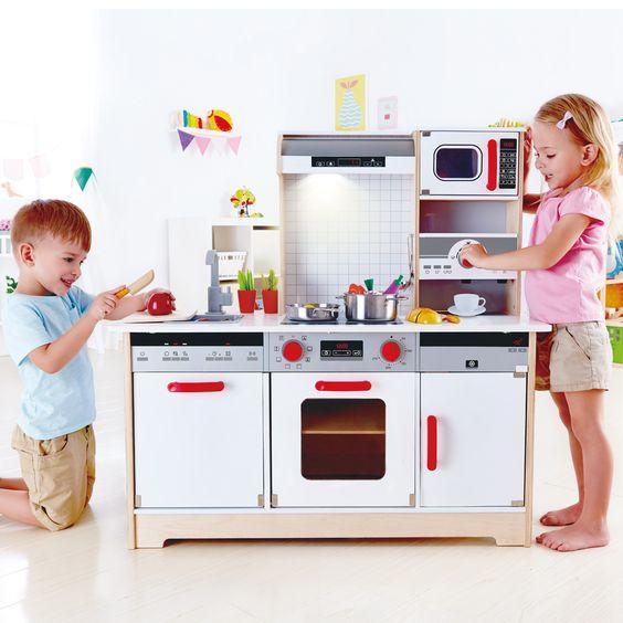 Hape Multifunktionale Spielküche In dieser inspirierenden Küche - küchen unterschrank spüle