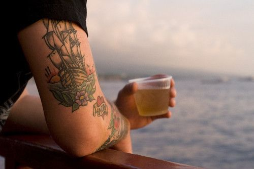 I lovelovelove ship tattoos!