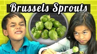 REACT - KIDS vs. FOOD #4 - BRUSSELS SPROUTS - YouTube