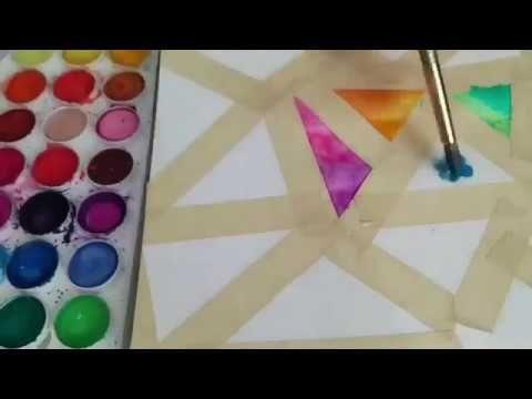Como Hacer Mandalas Con Acuarelas Diferente Y Super Facil Diy