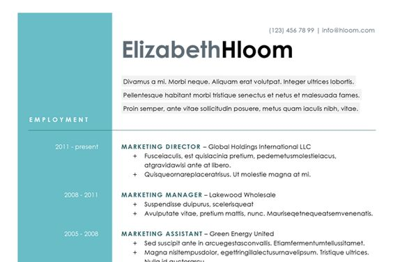 10 Design-Savvy Sites That Will Redesign Your Resume for You via - marketing assistant resume sample