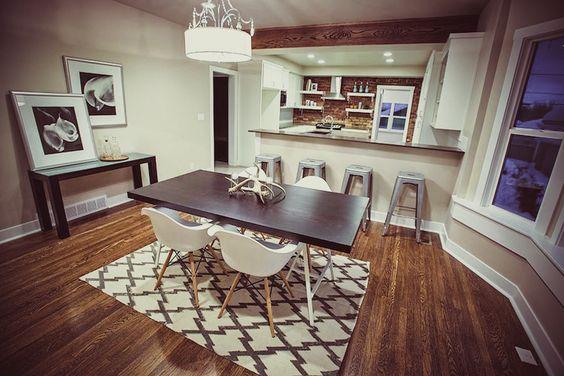 rug + dining set