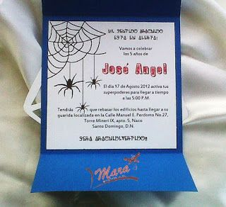 Mara Handmade : INVITACION SPIDERMAN- HOMBRE ARAÑA