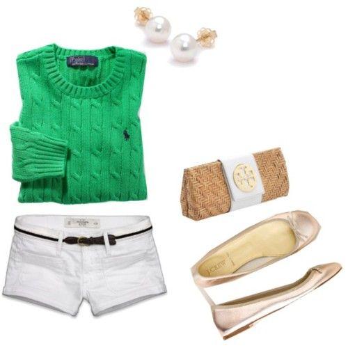 Green Polo Sweater
