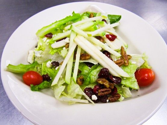 Pear And Brie Salad With Cashews And Dried Cranberries Recipe ...