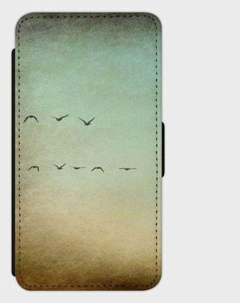 """Handytaschen -  Flip-Case Samsung7/Edge """" Flying Birds"""" - ein Designerstück von Heavensblue4711 bei DaWanda"""