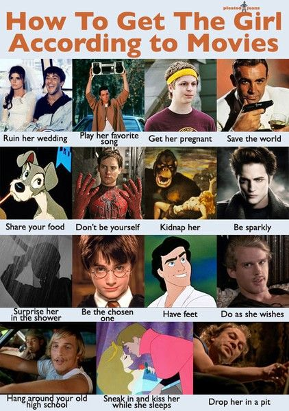 How to get the girl according to movies.