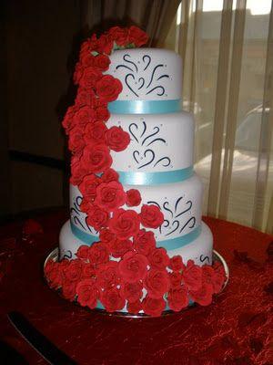 For my niece's wedding.  Handmade gumpaste flowers.