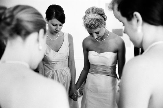 A moment of prayer before the ceremony | Stephen DeVries