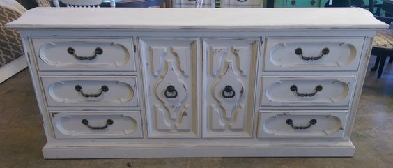 """Are you looking to update a guest bedroom before the holidays? This is a great vintage dresser that matches the nightstands I posted earlier and I have a great King headboard that would be perfect with it as well. What do you think?  The dimensions are 79.5"""" L, 20.5"""" W, 31.5"""" H. SOLD!! for $375 https://www.pinterest.com/shabbychictexas/my-shabby-chic-dressers/"""
