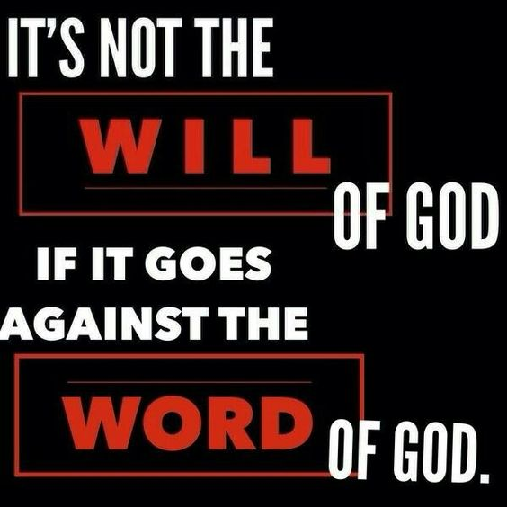 If something isn't clear let's pray and analyze it. Its possible if it's not in scripture it isnt from him.