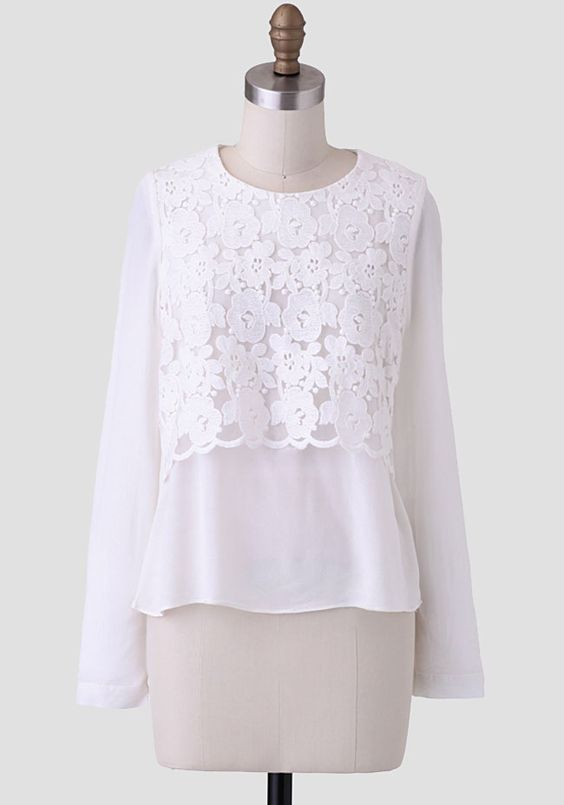 Essence+Of+Orchid+Embroidered+Blouse+at+#Ruche+@shopruche