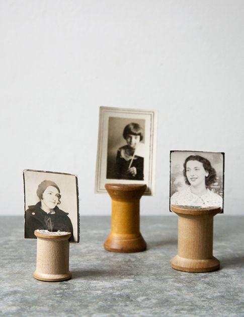 Spool Photo holders