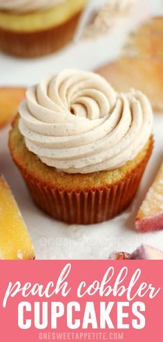 Peach Cupcakes with Cinnamon Frosting