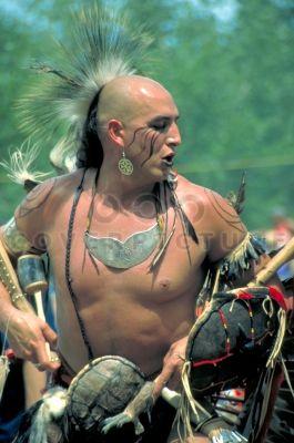 "mohawk turtle clan   Flint Eagle"", a Mohawk warrior of the Turtle Clan, in full regalia at ..."