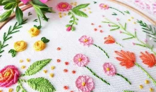 図案 刺繍 花 【刺繍の基本】お花を綺麗に作るには?初心者さん向け図案と刺し方