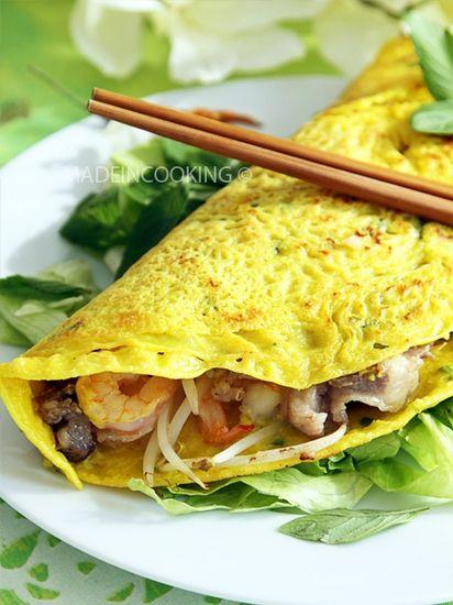 Banh xeo, crêpe vietnamienne : la recette