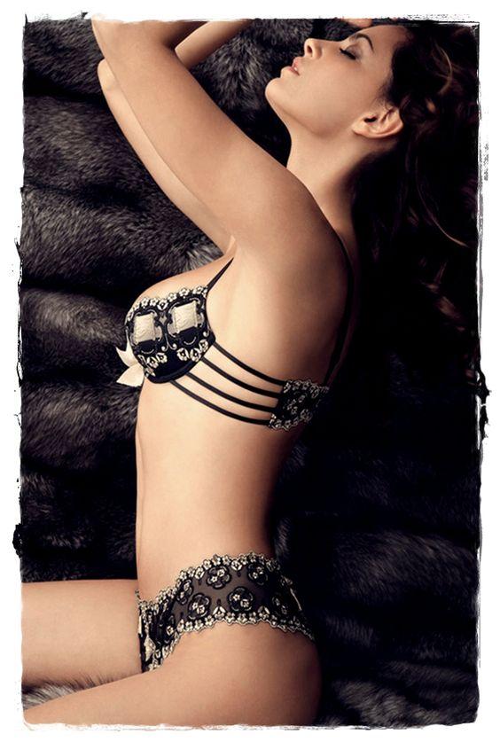 #Lingerie Models - Catrinel Menghia Poses in Lise Charmel Lingerie 12