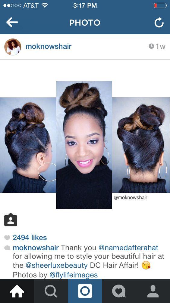 Natural hair updo- twisted bun