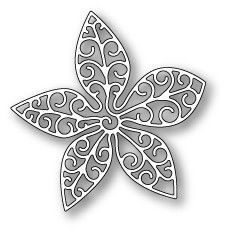 Poppystamps - Dies - Small Luxe Poinsettia Outline