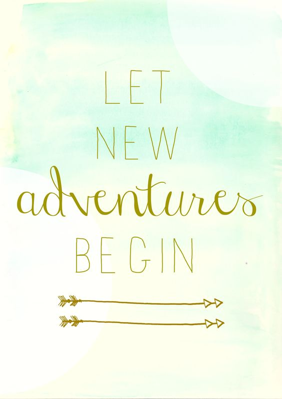 Let new adventures begin City Farmhouse free watercolor printable circles: