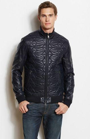 Quilted Leather JacketOnline Exclusive - Jackets & Blazers - Mens - Armani Exchange