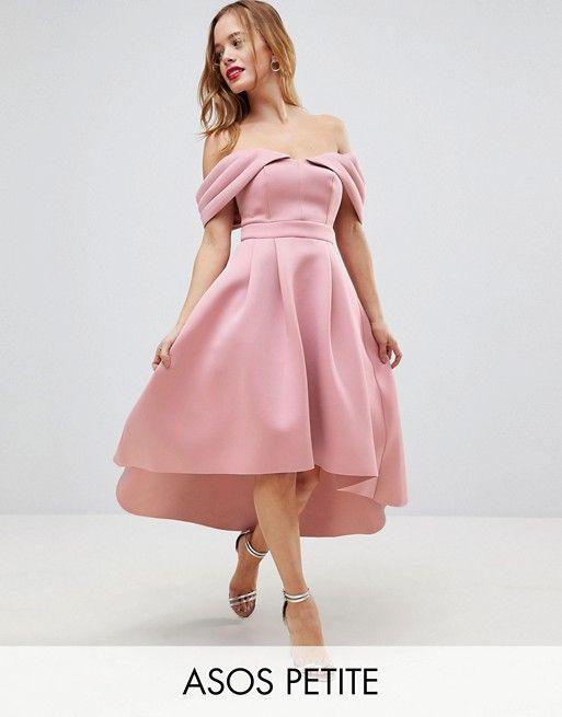 Asos Petite Asos Petite Bardot Cold Shoulder Dip Back Midi Prom Dress Red Prom Dress Long Womens Dresses Maxi Dress Prom