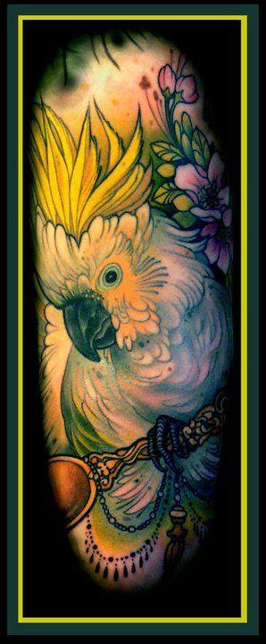 cockatoo: Birds Tattoo Funny Things, Birds Parrots, Neotraditional Tattoo Flash, Lips Tattoos, Luslips 154676, Lars Lus, Neo Traditional Animal Tattoo