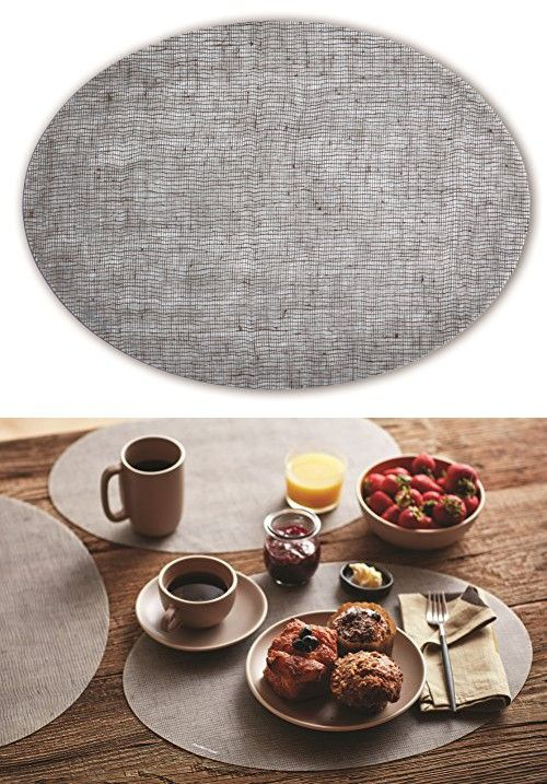 Modern Twist Modern Design Non Slip Heat Resistant Silicone Placemats For Dining And Decoration Oval Linen Chocolate Placemats Modern Design Dining