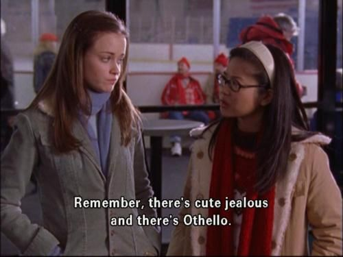 gilmore girls, othello reference