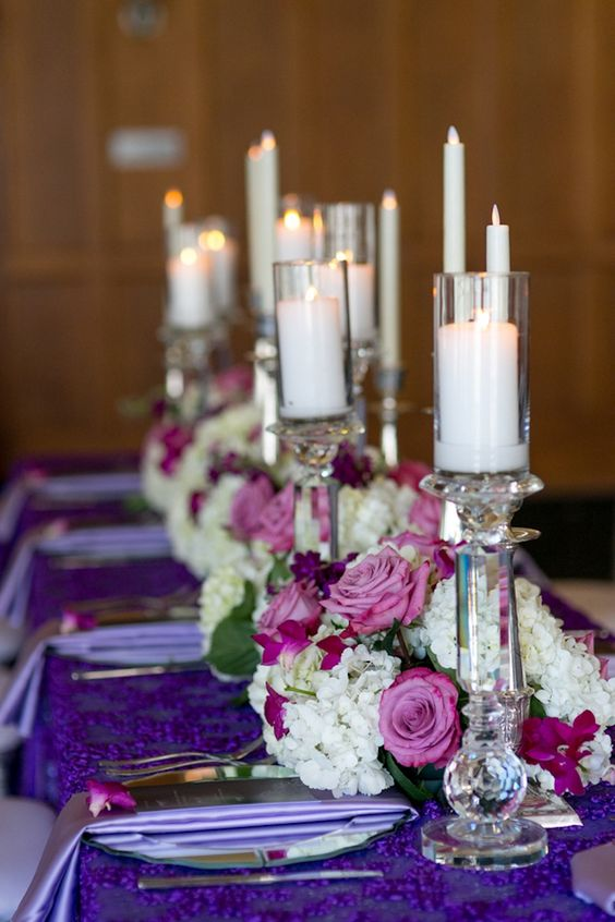 Purple modern indian wedding white pink low