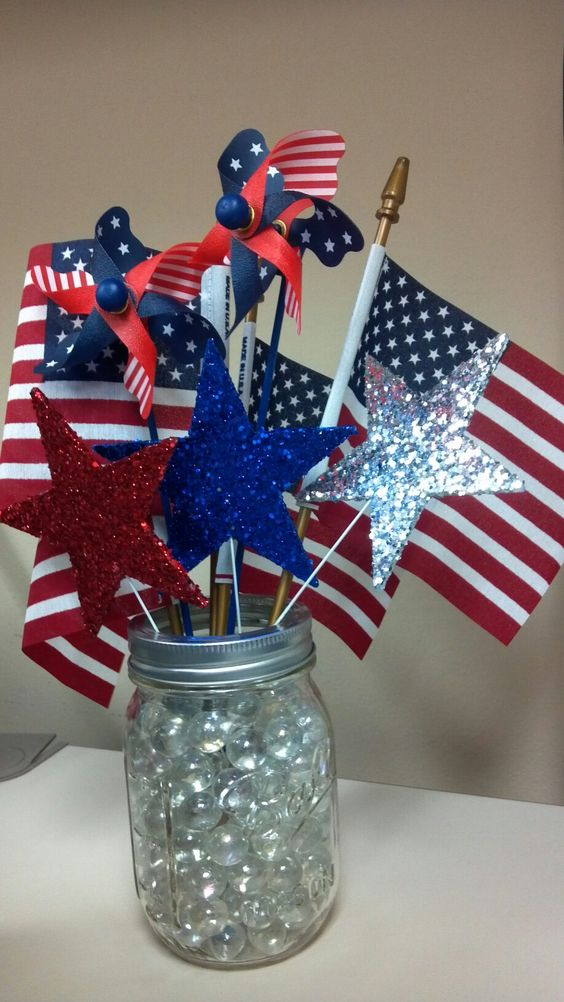 Centerpieces And Fourth Of July On Pinterest