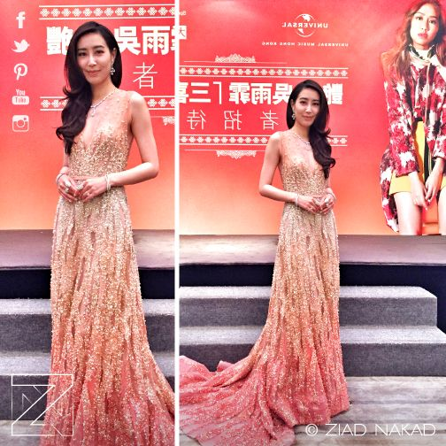 The Gorgeous #Pop #Rock #Singer 吳雨霏 Kary Ng wearing Ziad Nakad #Glamorous dress during the #contract renewal #singing #ceremony with #UniversalMusicLimited. The #evening Blooming #surprise was the announcement of her upcoming #marriage with her #first #love the #tennis #player @BrianHong. https://www.facebook.com/ngk0609
