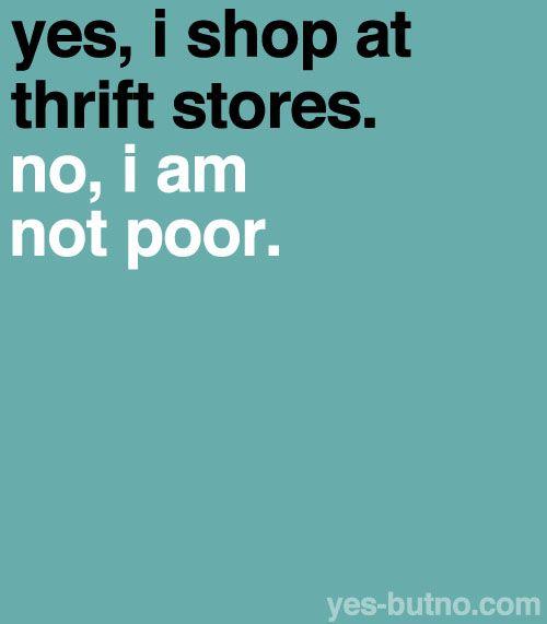 I love thrift stores: