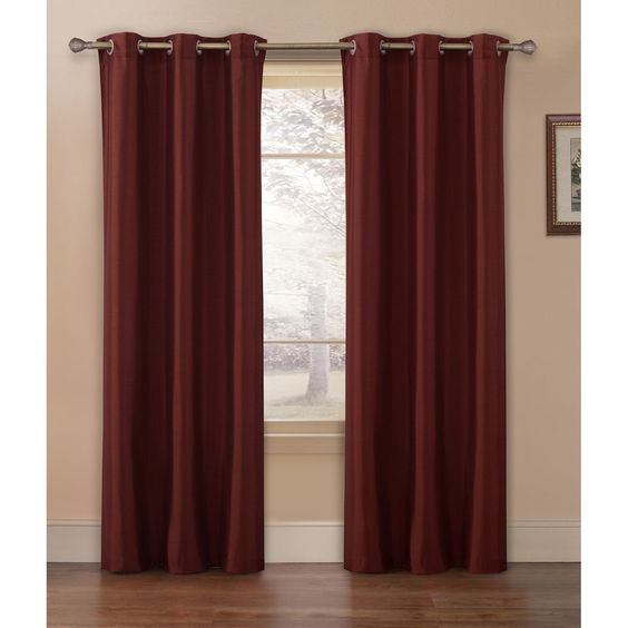 Vcny Preston Faux Silk 84-inch Curtain Panel Pair ( | Products ...