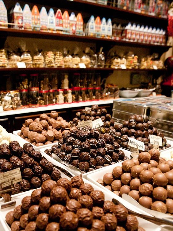 Chocolate Shop in Brussels: