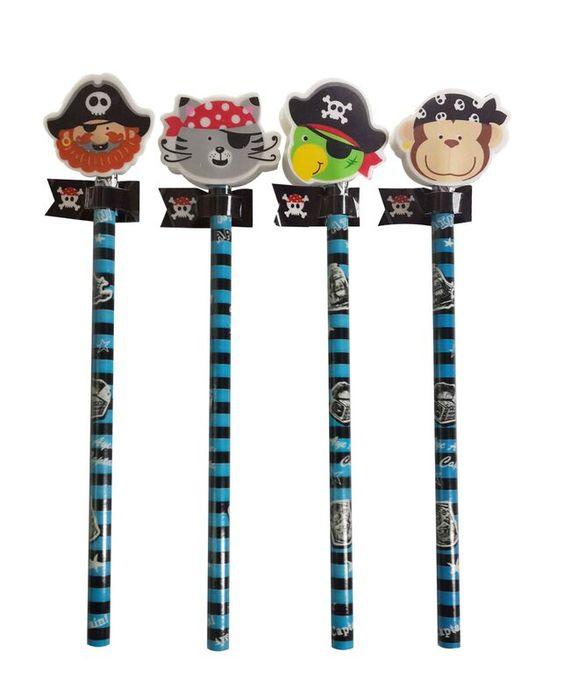 Piraten Bleistifte als Mitgebsel für einen Piraten Kindergeburtstag!