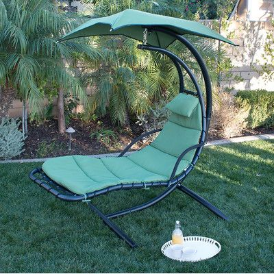 Chaise Lounge with Cushion Color: Green - http://delanico.com/chaise-lounges/chaise-lounge-with-cushion-color-green-653276840/
