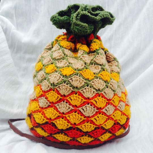 Crochet Back Bag : bag crochet pineapple bag link blog post crochet bolsas back to bags ...
