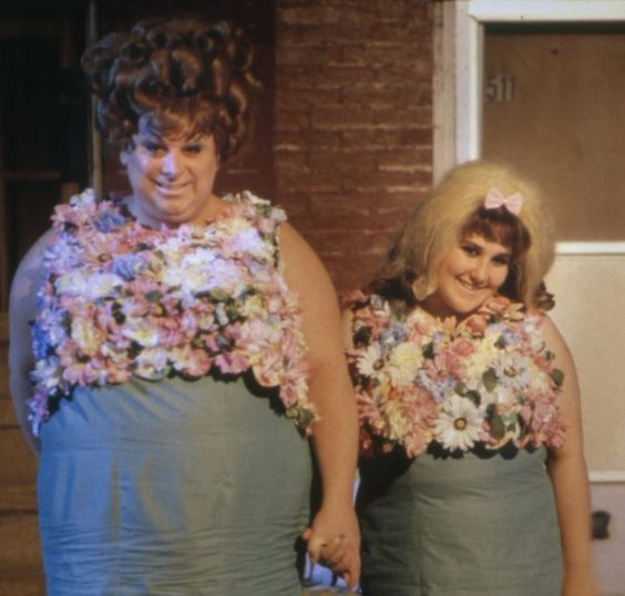 Divine and Ricki Lake (as Edna and Tracy Turnblad) on the set of John Waters' Hairspray