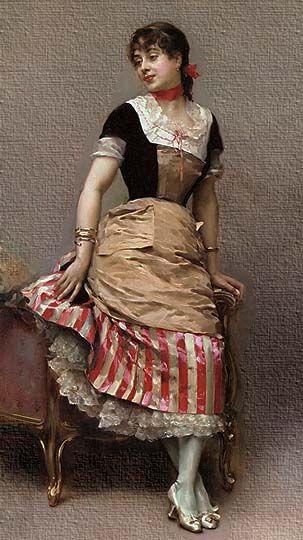 Pintura realista española al óleo por De Madrazo y Garreta.
