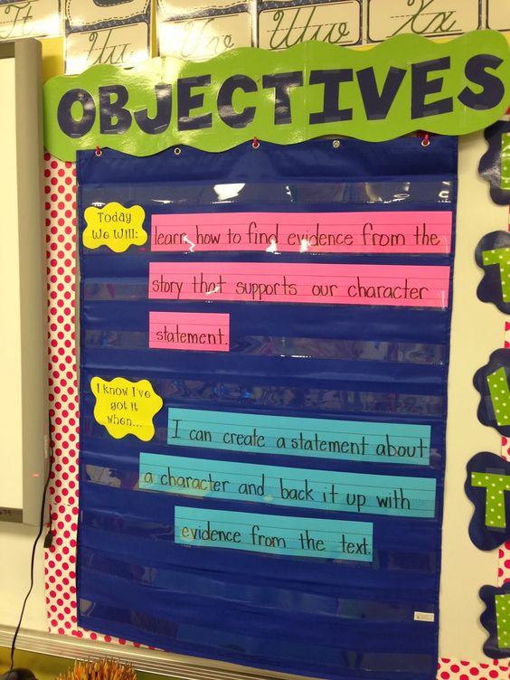 life in first grade  displaying objectives