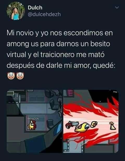 Among Us Memes Juegos Xbox Beso Virtual Que Me Quedes Tu