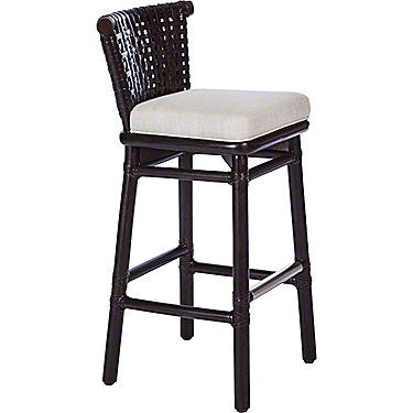 McGuire Furniture: Laced Rawhide Bar/Counter Stool: LO-355 DARK TOBACCO