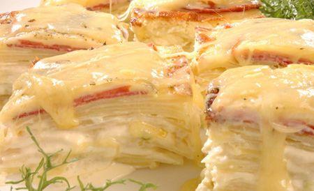 Tortillas de papa rellena de suave queso crema