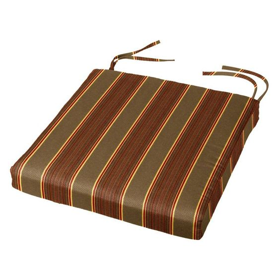 Cushion Source 17.5 x 16 in. Striped Sunbrella Chair Pad
