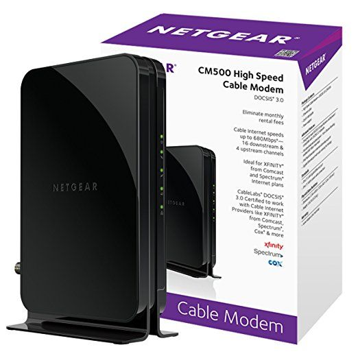 Netgear Cm500 1aznas 16x4 Docsis 3 0 Cable Modem Max Download Speeds Of 686mbps Certified For Xfinity From Comcast Spectrum Co Cable Modem Netgear Modems