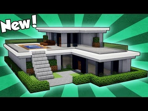 Minecraft How To Build A Small Easy Modern House Tutorial 2018 Youtube Minecraft Small Modern House Minecraft Modern Modern Minecraft Houses