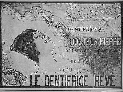 Publicité Dentifrice Rêve Du Docteur Pierre De La Faculté De Médecine A Paris